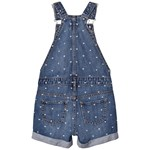 Gap Heart Print Denim Overalls Medium Wash