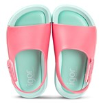 Igor Pink and Aqua Baby Bicolour Rubber Sandals