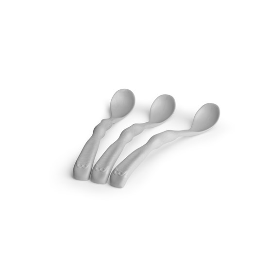 Herobility Hero Eco Feeding Spoon 3-p Mist Grey