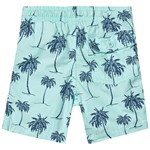 Gap Palm Pull-On Shorts Bleached Aqua