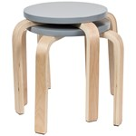 SG Furniture Kids Stools 2 pcs Grey