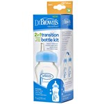 DrBrown Wide Neck  Options  Transition Sippy Spout 270ml Blue