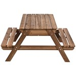 Oliver & Kids Table with sandbox Brown
