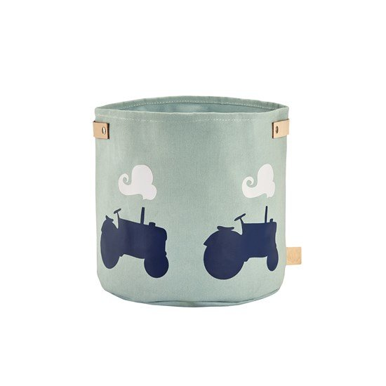 Blafre Canvas Basket, Tractor, medium Light blue