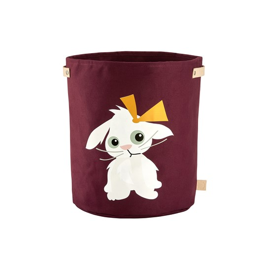 Blafre Canvas Basket, Rabbit, large Aubergine