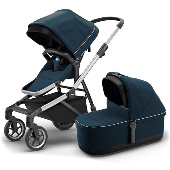 Thule Sleek Stroller With Carrycot Navy Blue