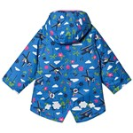 Frugi Blue Organic Sky Print Explorer Waterproof Coat with Full Fleece Lining