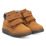 Geox Tan Hynde Leather Waterproof Velcro Boots