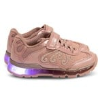 Geox Pink and Silver Android Light Up Velcro Trainers