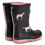 Joules Navy Horses Packable Roll Up Wellies