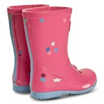 Joules Pink Star Confetti Packable Roll Up Wellies