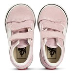 Vans Pink & White Old Skool Velcro Infants Trainers