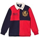 Joules Red & Navy Try Long Sleeve Rugby T-shirt
