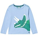 Joules Blue Dino Zipadee Long Sleeve T-shirt