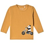 Minymo T-shirt LS With Front Print Wood Thrush
