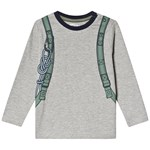 Minymo T-shirt LS With Print Grey Melange