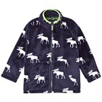 Hatley Blue Moose Silhouettes Fuzzy Fleece Jacket