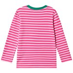 Frugi Pink and White Stripe Organic Panda Applique Top