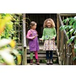 Frugi Pink Organic Corduroy Skirt with All Over Bird Print