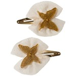 Ciao Charlie Hair Clip Set Butterfly Tulle Gold