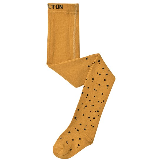 Melton Tights - Small Dot Honey Mustard