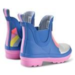 Joules Blue Rainbow Short Wellibob Wellies