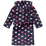 Hatley Navy Lovey Hearts Fleece Robe