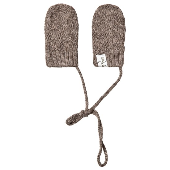Little Jalo Knitted Baby Mittens Wood Brown
