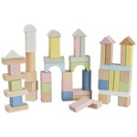 STOY 50Pcs Blocks With Pastel Colors