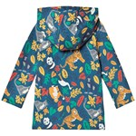 Frugi Navy Organic Cosy Lined Jacket in Endangered Species Print