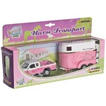 Play Pink Mitsubishi Horse trailer with horses