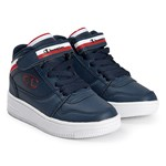 Champion Navy Rebound Vintage B Hi Top Trainers