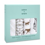 Aden + Anais Pack of 4 Hear Me Roar Swaddles