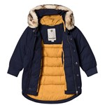 Timberland Navy Timberland Tree Parka with Removable Faux Fur Trim