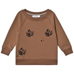 One We Like Rag Sweatshirt Paws Brownie