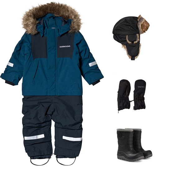 Didriksons Didriksons Tirian Winter Coverall and Winter Boots and Accessories Blue