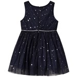 Jocko Baby Dress with Silver Dots Navy
