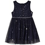 Jocko Formal Dress with Silver Dots Navy