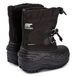 Sorel Childrens Super Trooper Black Light Grey