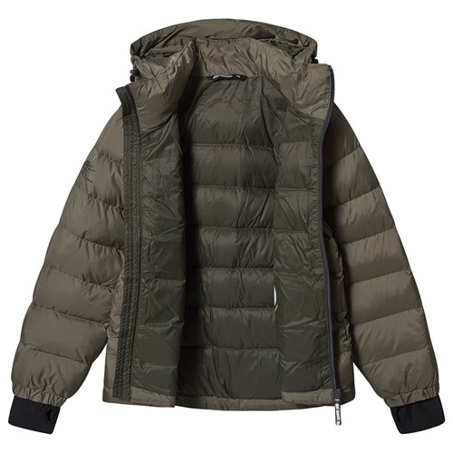Kjøp Bergans Down Youth Jacket GreenMud Solid Charcoal