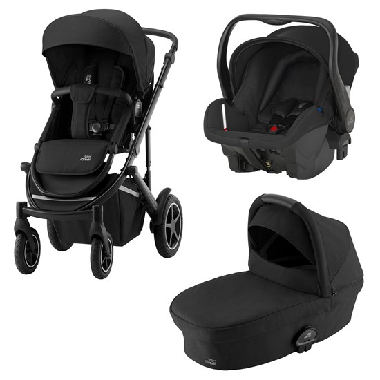 Britax Paket Smile III Stroller Space Black + Smile III Carrycot Space Black + Primo Infant Carrier Cosmos Black