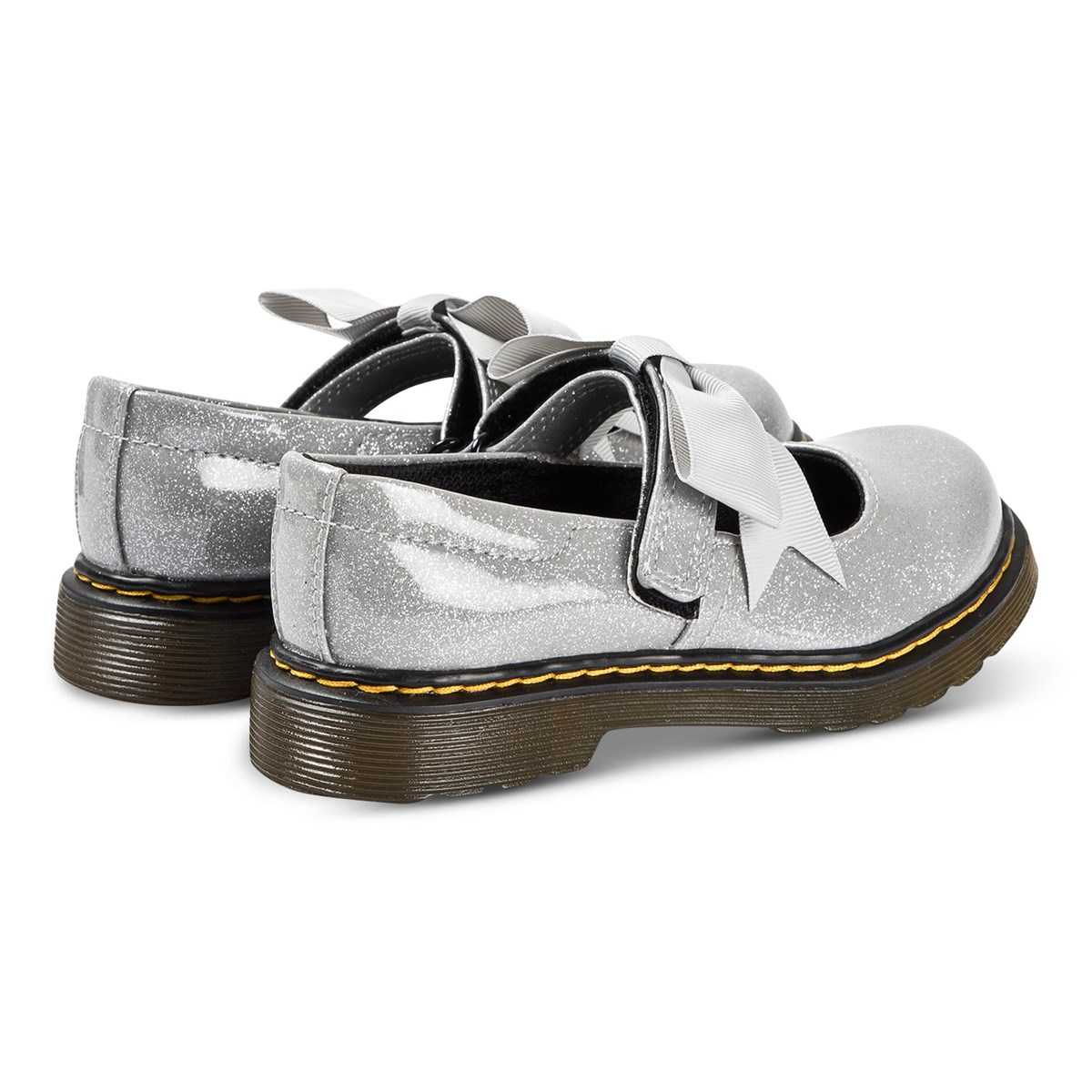 Kjøp Dr. Martens Silver Glitter Maccy Bow Mary Jane Shoes
