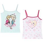 Disney Frozen Frozen 2-Pack Girls Vest White/Blue Light