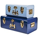 JOX Metal trunk Blue Set of 2
