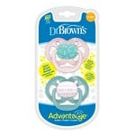 DrBrown 2-Pakke Advantage™ Smokker Rosa Papirfly 6-18m