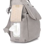 Babymel Robyn Convertible Backpack Faux Leather Pale Grey