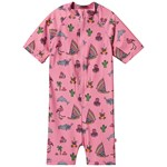 Småfolk Uv50 Uv Suit With Map And Sea World Sea Pink