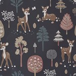 Majvillan Wallpaper Golden woods deep grey