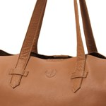 Elodie Changing  Bag - Chestnut leather