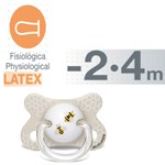 Suavinex Basic Fusion Physiological Latex Pacifier 2-4 m Bee